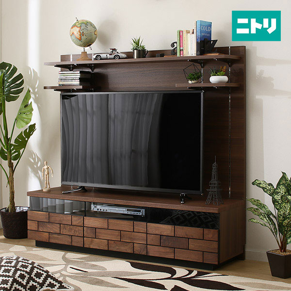 TVボードハイタイプ(ブロリック 150) ニトリ 【完成品・配送員設置】 【5年保証】