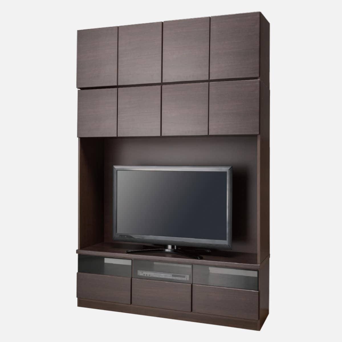 上置き付き壁面ユニットTVボード(ウォーレン 150セット DBR) ニトリ 【配送員設置】 【5年保証】