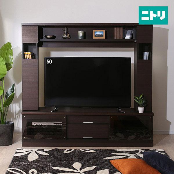 テレビボード(カネロ 170セット DBR) ニトリ 【完成品・配送員設置】 【5年保証】