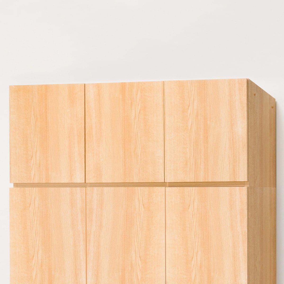 美しい光沢の壁面収納シリーズ 上置(ポルテ 120U LBR) ニトリ 【玄関先迄納品】 【5年保証】