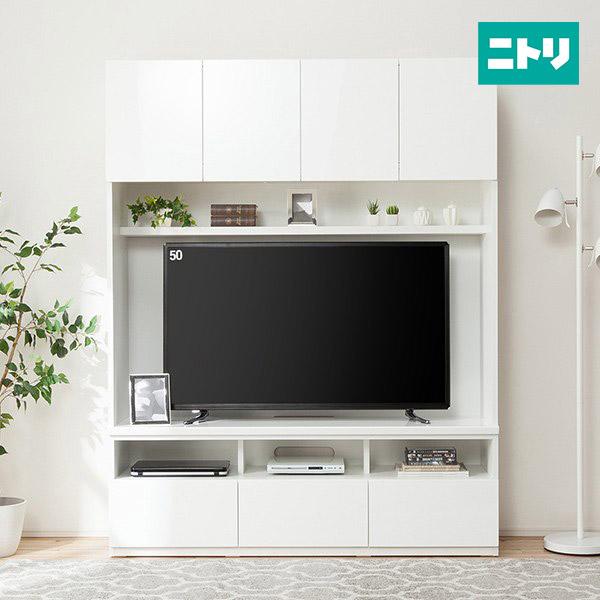 美しい光沢の壁面収納シリーズ テレビボード(ポルテ 150TV WH) ニトリ 【配送員設置】 【5年保証】