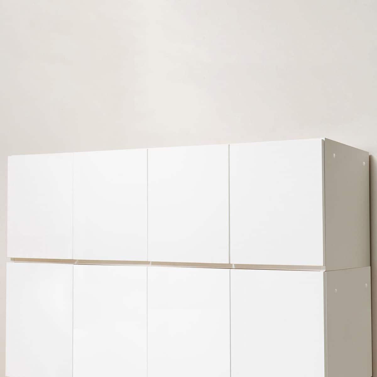 美しい光沢の壁面収納シリーズ 上置(ポルテ 150U WH) ニトリ 【配送員設置】 【5年保証】