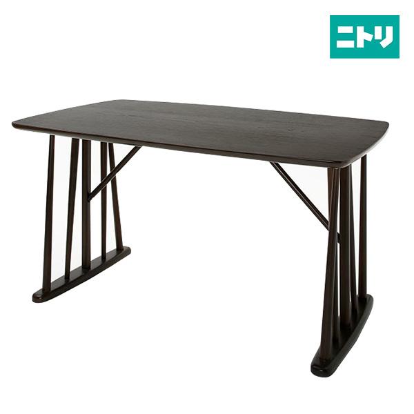 モダンテイストダイニングテーブル(ポール135 DBR) ニトリ 【玄関先迄納品】 【5年保証】