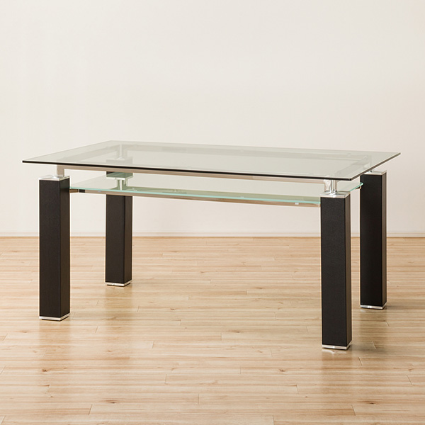 クールなガラス天板のダイニングテーブル(ニューヨークF BK HS LA12-1) ニトリ 【配送員設置】 【5年保証】