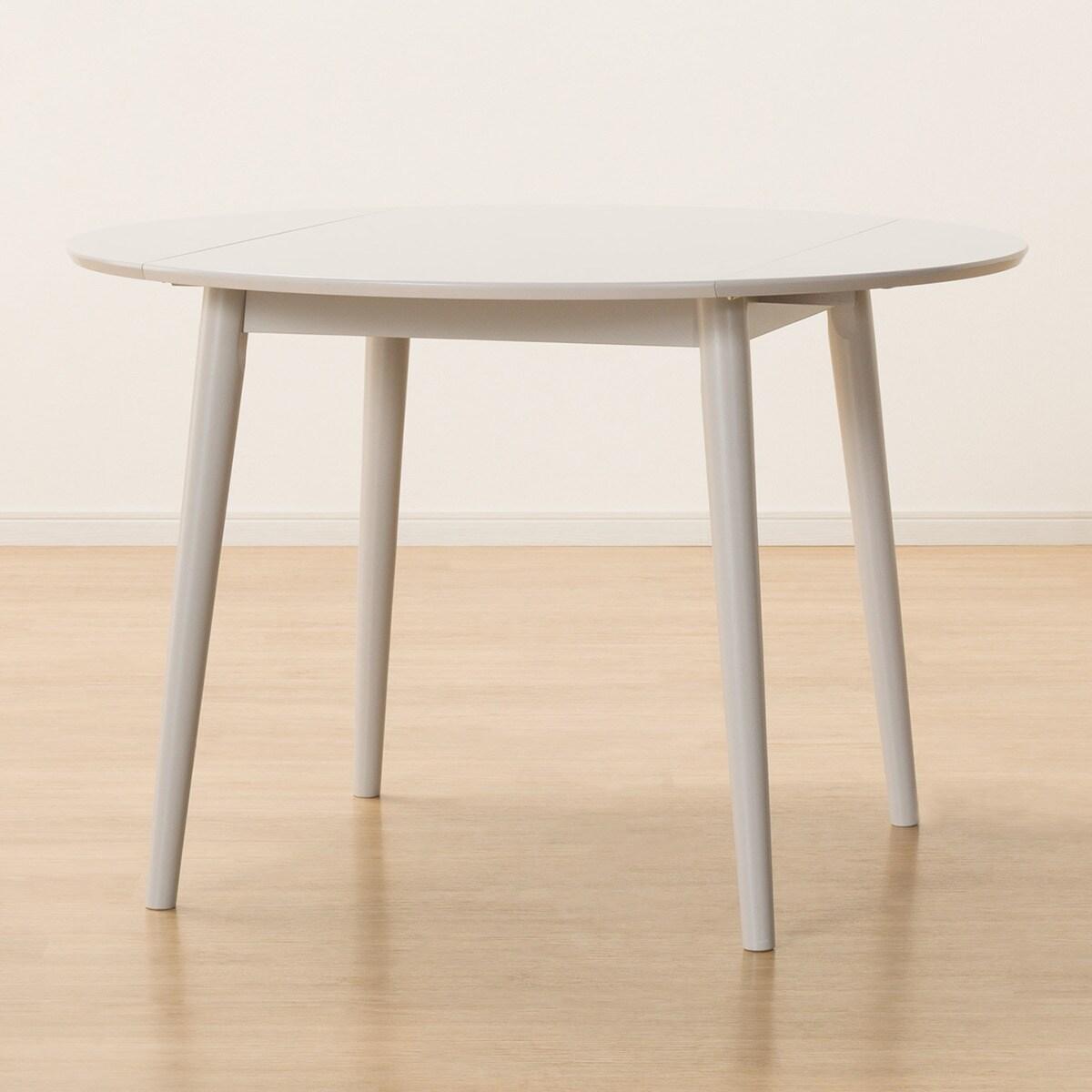 ダイニングテーブル(トーン円形伸長GY) ニトリ 【玄関先迄納品】 【1年保証】