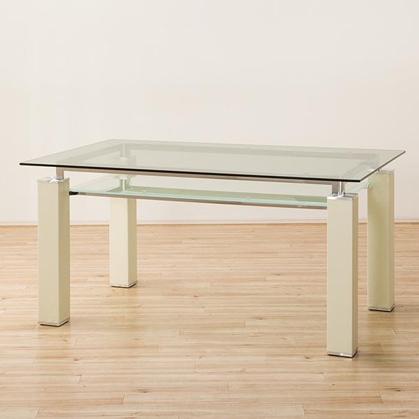 クールなガラス天板のダイニングテーブル(ニューヨークF IV HS LA12-1) ニトリ 【配送員設置】 【5年保証】
