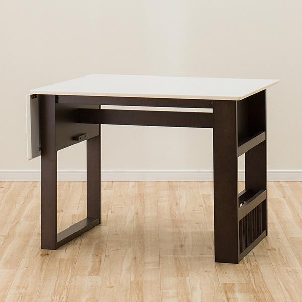 伸長式ダイニングテーブル(ロピア2 WH/DBR) ニトリ 【玄関先迄納品】 【5年保証】