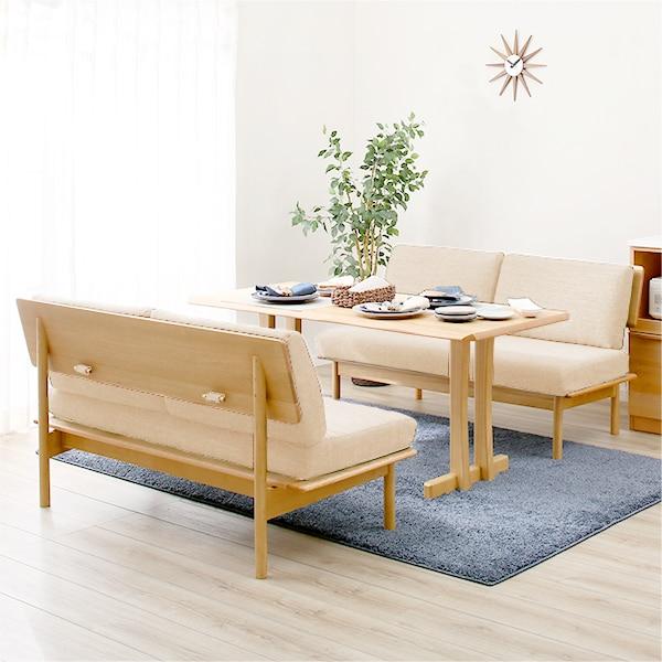 リビングダイニングテーブルセット(オークエストNA/IV2Pソファ) ニトリ 【配送員設置】 【5年保証】