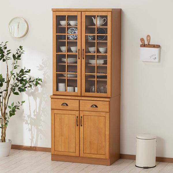 食器棚(ミランダ2 80 LBR) ニトリ 【配送員設置】 【5年保証】
