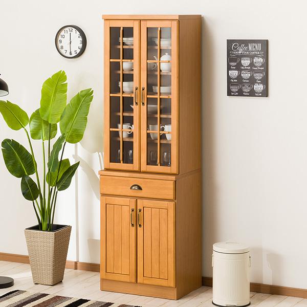 食器棚(ミランダ2 60 LBR) ニトリ 【配送員設置】 【5年保証】