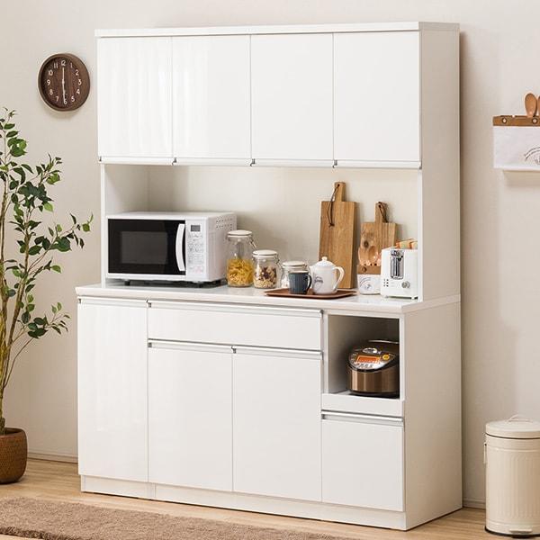食器棚(レジューム 150TF-H WH/150TL-R WH) ニトリ 【配送員設置】 【5年保証】