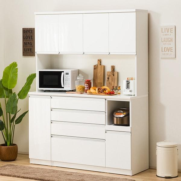食器棚(レジューム 150TF-H WH/150SH-R WH) ニトリ 【配送員設置】 【5年保証】