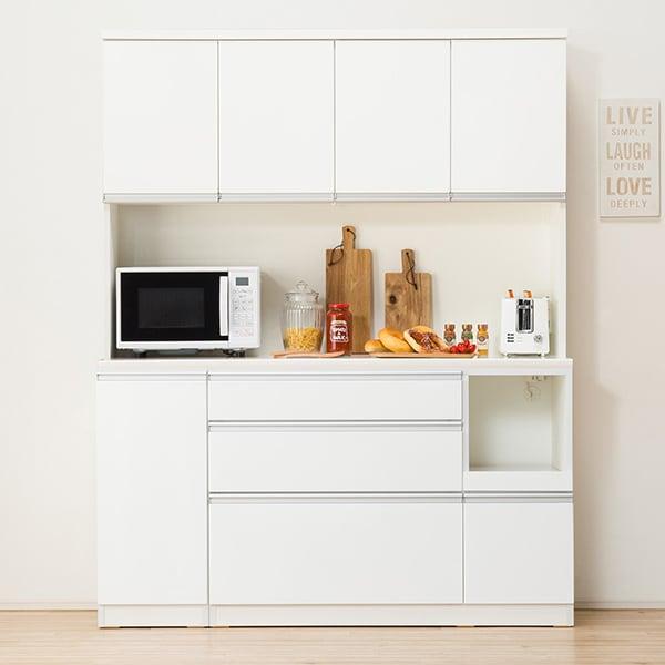 食器棚(レジューム 150TF-H WH/150SL-R WH) ニトリ 【配送員設置】 【5年保証】