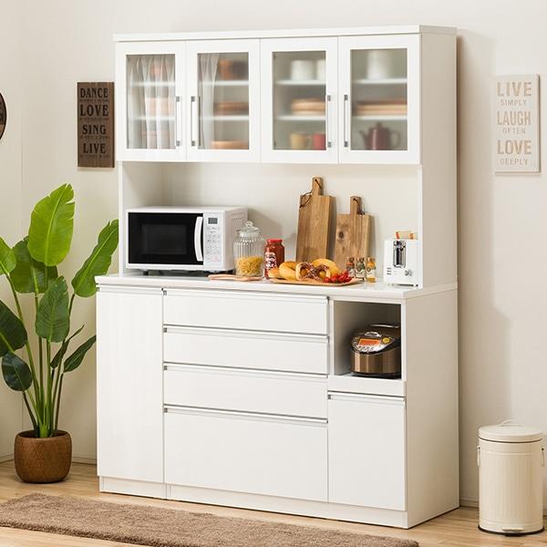 食器棚(レジューム 150TG-H WH/150SH-R WH) ニトリ 【配送員設置】 【5年保証】