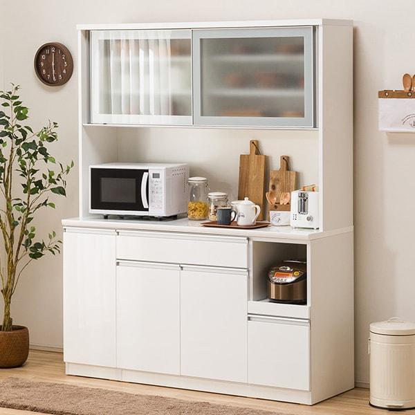 食器棚(レジューム 150AG-S WH/150TL-R WH) ニトリ 【配送員設置】 【5年保証】
