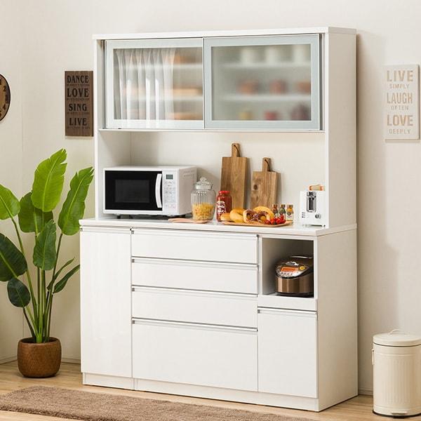 食器棚(レジューム 150AG-S WH/150SH-R WH) ニトリ 【配送員設置】 【5年保証】