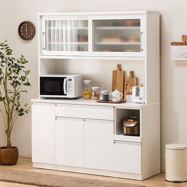 食器棚(レジューム 150TG-S WH/150TL-R WH) ニトリ 【配送員設置】 【5年保証】