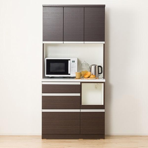 キッチンボード(レジューム 90TF-H DBR/90SL-R DBR) ニトリ 【配送員設置】 【5年保証】