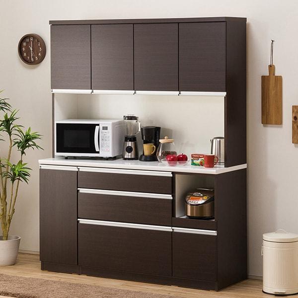食器棚(レジューム 150TF-H DBR/150SL-R DBR) ニトリ 【配送員設置】 【5年保証】