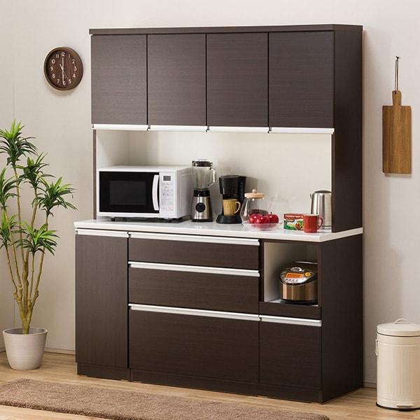 食器棚(レジューム 150TF-H DBR/150QL-R DBR) ニトリ 【配送員設置】 【5年保証】