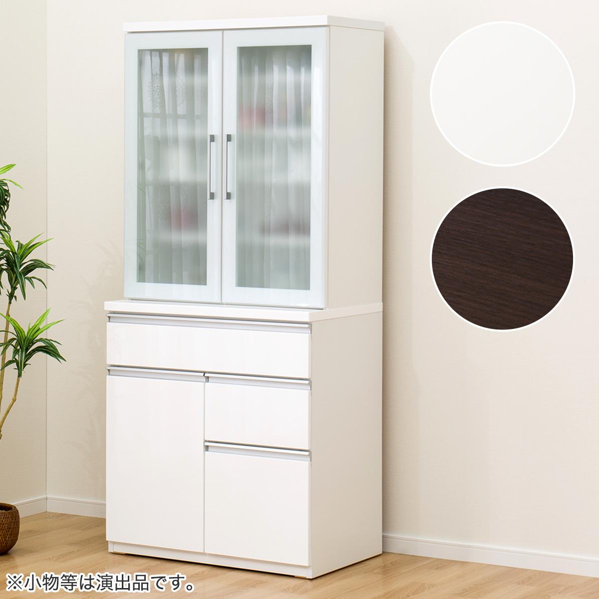 食器棚(キュリー2 80D) ニトリ 【配送員設置】 【5年保証】