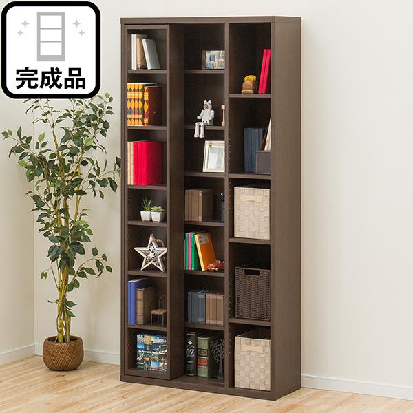片側スライド書棚(エスタンテ S DBR) ニトリ 【完成品・配送員設置】 【5年保証】