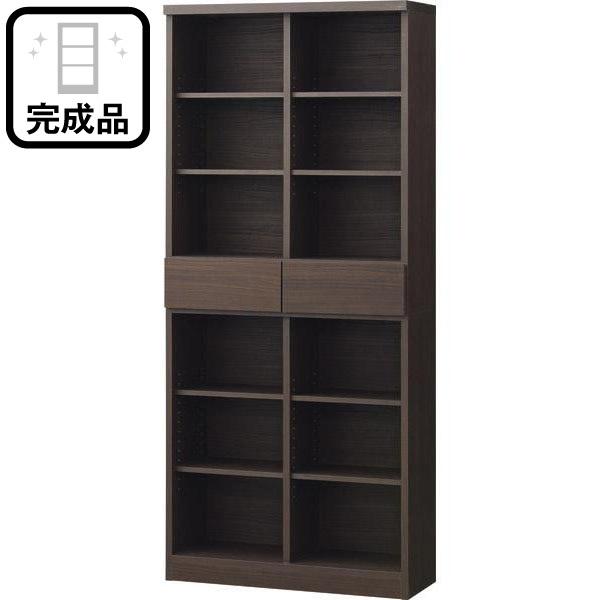 オープン書棚(アデル80BS DBR) ニトリ 【完成品・配送員設置】 【5年保証】