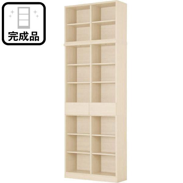書棚+上置きセット(アデル80WW) ニトリ 【完成品・配送員設置】 【5年保証】