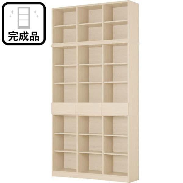 書棚+上置きセット(アデル120WW) ニトリ 【完成品・配送員設置】 【5年保証】
