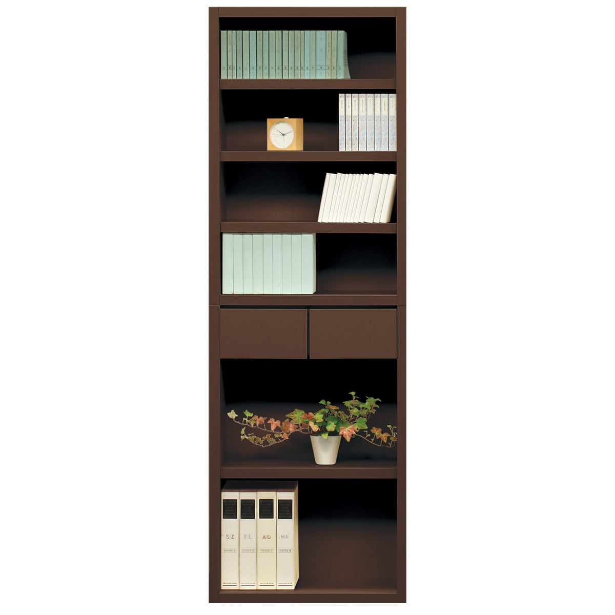 書棚(カゼラ60 DBR) ニトリ 【完成品・配送員設置】 【5年保証】