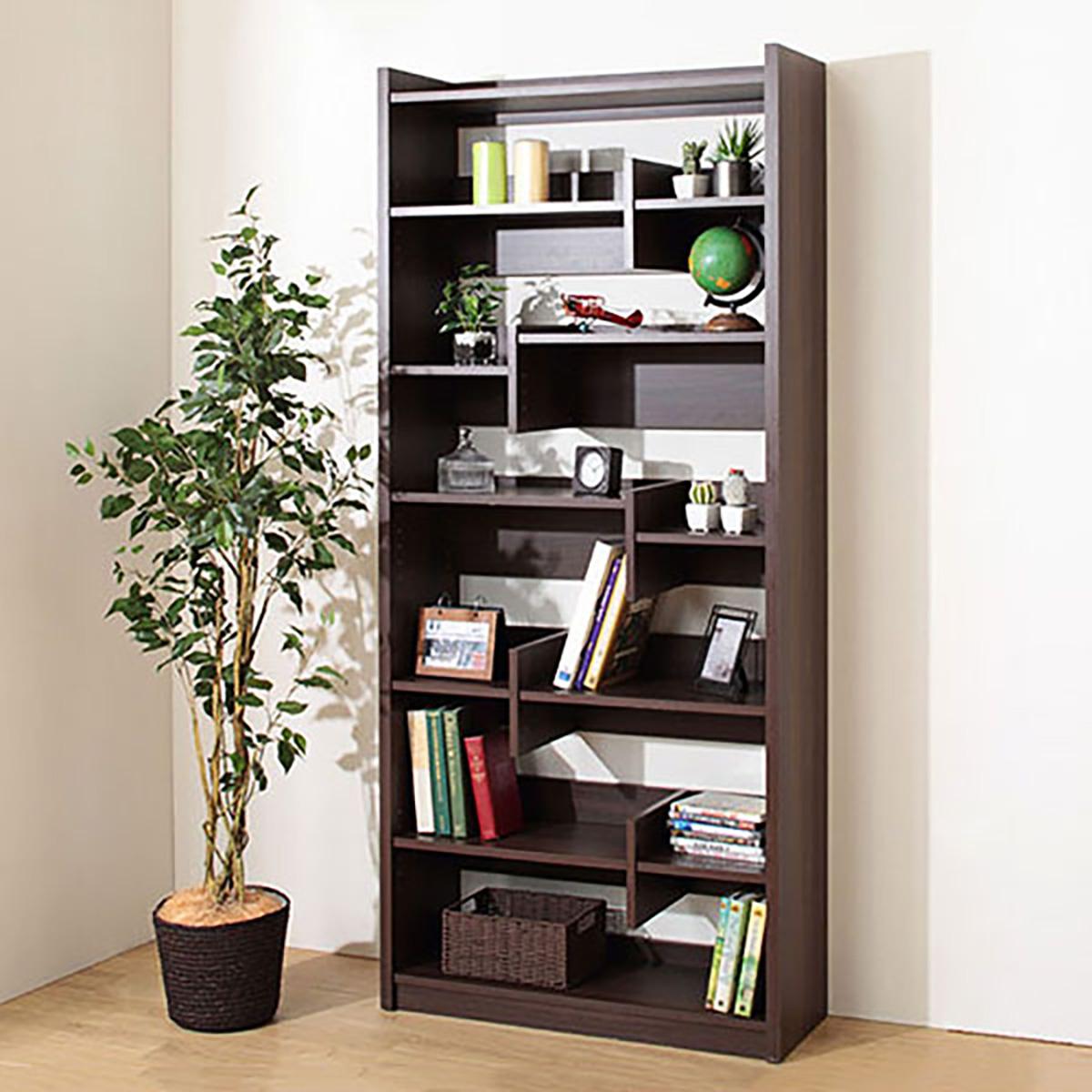 オープン書棚(ボビー DBR) ニトリ 【完成品・配送員設置】 【5年保証】
