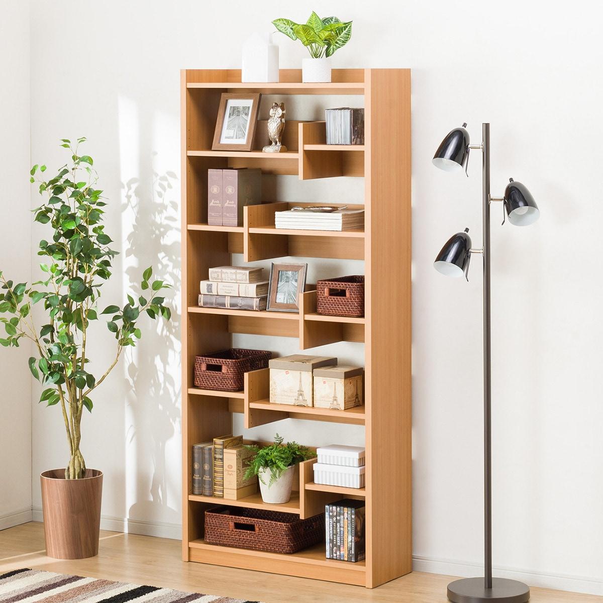 オープン書棚(ボビー LBR) ニトリ 【完成品・配送員設置】 【5年保証】
