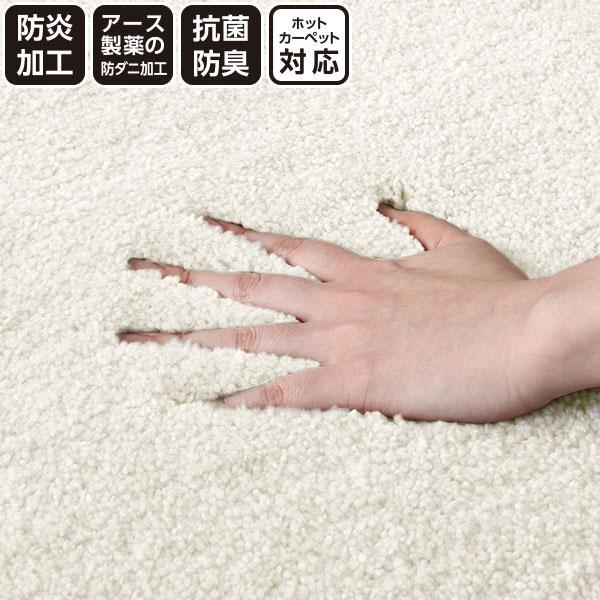 防ダニ・防炎・抗菌カーペット(ナイロンムートンIV 200x200) ニトリ 【玄関先迄納品】