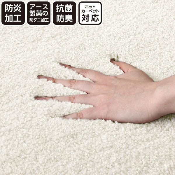 防ダニ・防炎・抗菌カーペット(ナイロンムートンIV 200x300) ニトリ 【玄関先迄納品】
