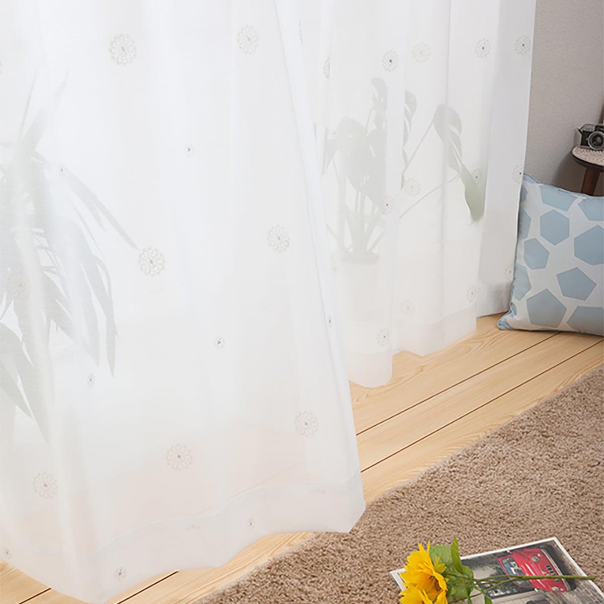 UVカット 洗濯OK アイボリー 100×108 1枚入り 激安格安割引情報満載 レースカーテン 玄関先迄納品 ドイリー 100X108X1 ニトリ 売れ筋ランキング 〔合計金額11000円以上送料無料対象商品〕