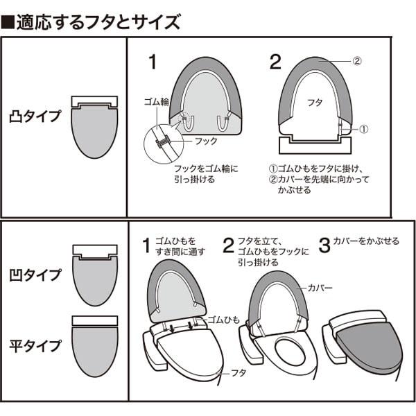 洗浄・暖房便座用 フタカバー(IN ソフティ2 YGR) ニトリ 【玄関先迄納品】