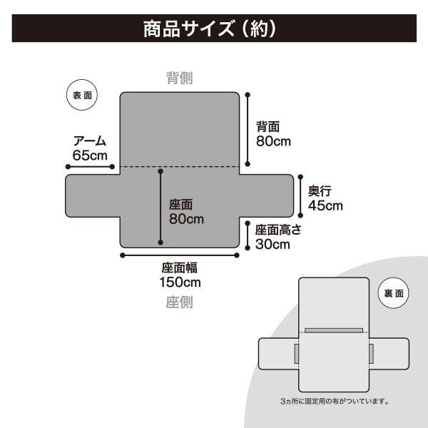 表と裏両面使えるソファパッド(NC/SソファパッドH 3人掛け用) ニトリ 【玄関先迄納品】