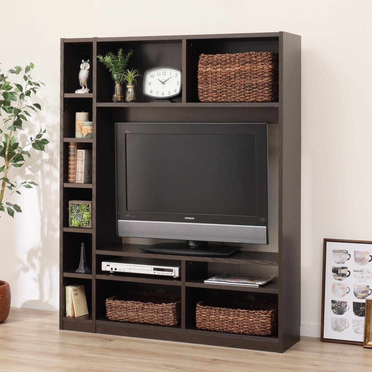 お部屋を広く見せるスリムタイプのテレビボード(Nウェルカー120 DBR) ニトリ 【玄関先迄納品】 【1年保証】