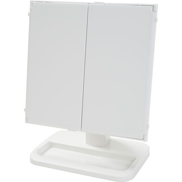 回転三面鏡(ホワイト) ニトリ 【玄関先迄納品】