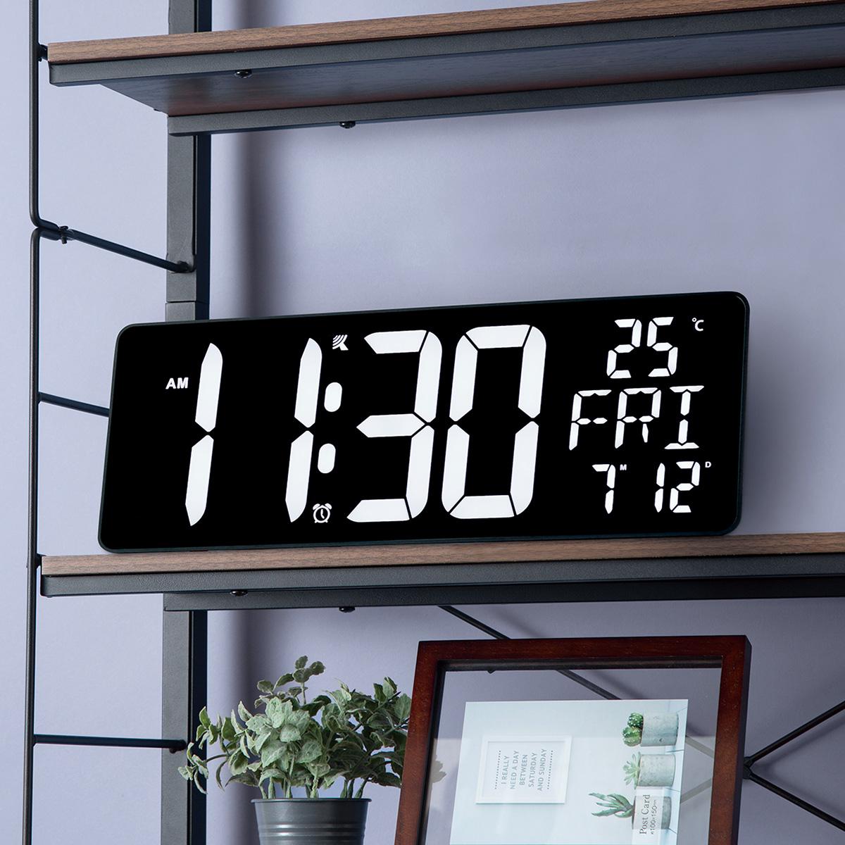 幅37.5cm 電波 LED掛け置き兼用時計 ダイオ 1年保証 迅速な対応で商品をお届け致します いつでも送料無料 玄関先迄納品 〔合計金額11000円以上送料無料対象商品〕 ニトリ