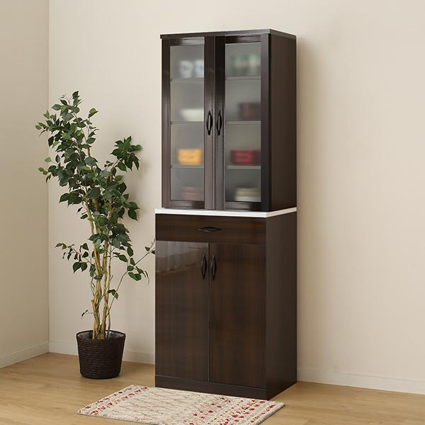 食器棚セット(ブリエ NTG/NBC9060 DBR) ニトリ 【玄関先迄納品】 【1年保証】