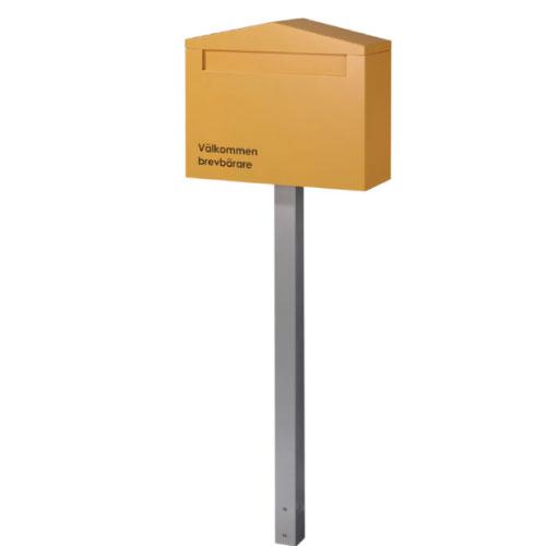 送料無料 購入 郵便ポスト 新品未使用 ノーラン シングル オレンジ 全品送料無料 P-849 あす楽対応不可