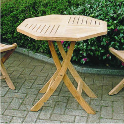 ★送料無料★ ガーデンテーブル:チーク材折り畳みテーブル[F-082]【あす楽対応不可】【全品送料無料】