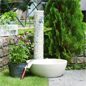 立水栓・水栓柱:水栓柱-ぺブル(パン/蛇口付)[W-189]【あす楽対応不可】【全品送料無料】