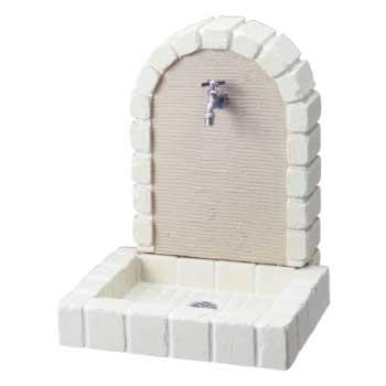 立水栓ユニット プラスタータイプ(オフホワイト)【蛇口別売】[W-433]【あす楽対応不可】【全品送料無料】
