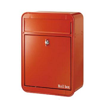 送料無料 前入れ前出し 郵便ポスト 壁付け 壁掛け郵便ポスト 壁付け郵便ポスト ミルク P-341 メールボックス ご注文で当日配送 高品質 レッド 郵便受け postbox カベ付け