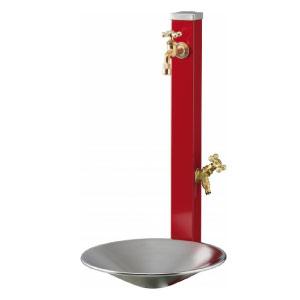 立水栓・水栓柱:ウォータースタンド・スプレスタンド70(蛇口2個セット)/シャインポットセット[W-133] ステンレス製立水栓 立水栓セット りっすいせん【あす楽対応不可】【全品送料無料】