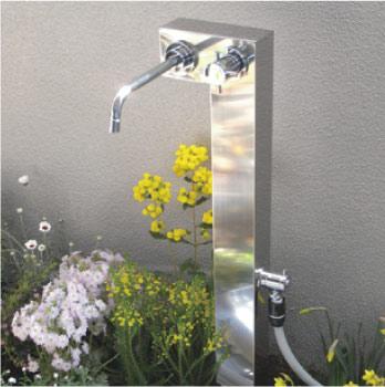立水栓・水栓柱:Lスタイル・ウォーターポスト(ステンレス)[W-169]【立水栓】【あす楽対応不可】【全品送料無料】