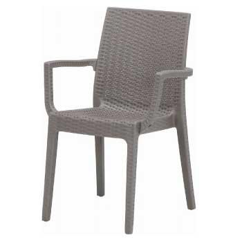 ガーデンチェアー:ステラチェアー(肘付) グレー(2脚セット)[F-527]【あす楽対応不可】【全品送料無料】ガーデンファニチャー ガーデンファニチャ garden・furniture