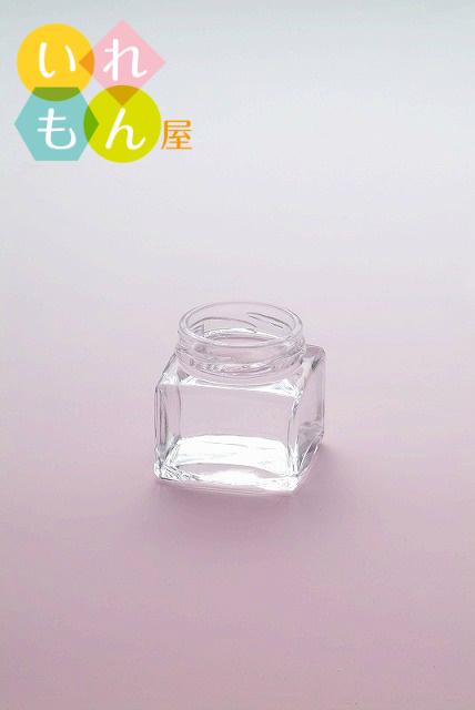 WMM-35透明びん/120本入キャップ付【角瓶 ジャム瓶 調味料びん ガラス瓶 ガラス保存容器 保存瓶 化粧品容器 硝子瓶】